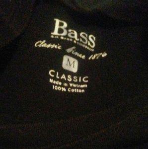 G.h. bass. Short slv tee black medium